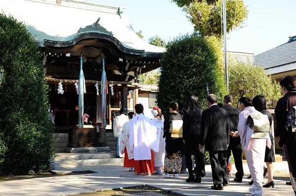 徳丸北野神社結婚式白無垢レンタル着付けヘアメイクカメラマン披露宴