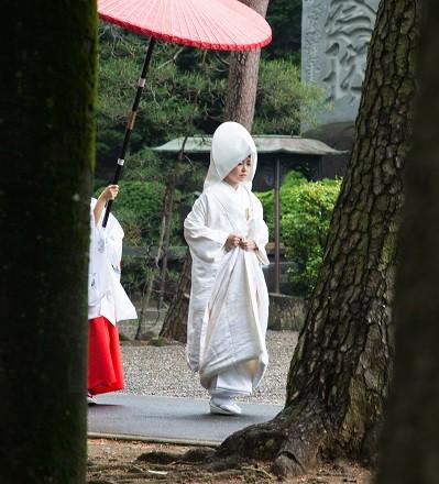 結婚式花嫁参進