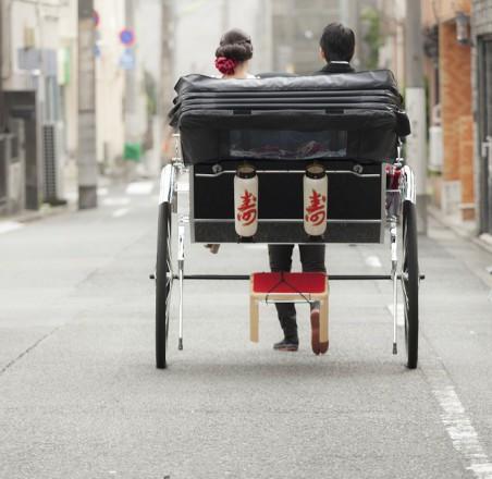 人力車和婚演出