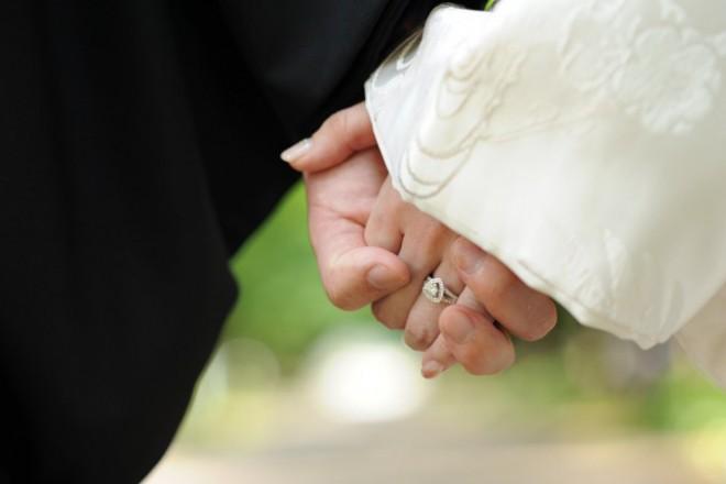 結婚指輪和装