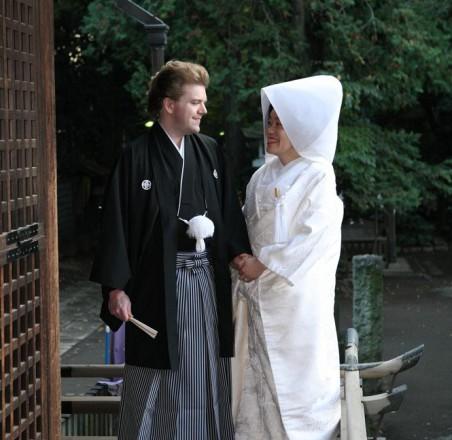 和装国際結婚式 日本東京