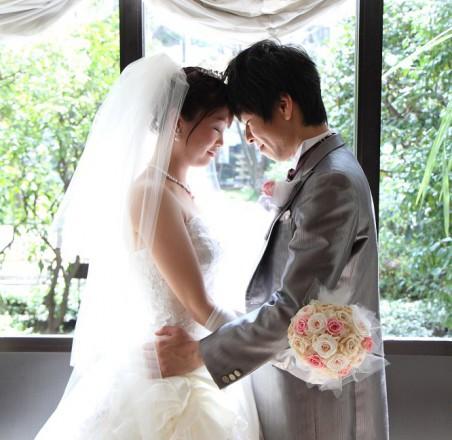ウエディングドレス教会結婚式ヘアメイク