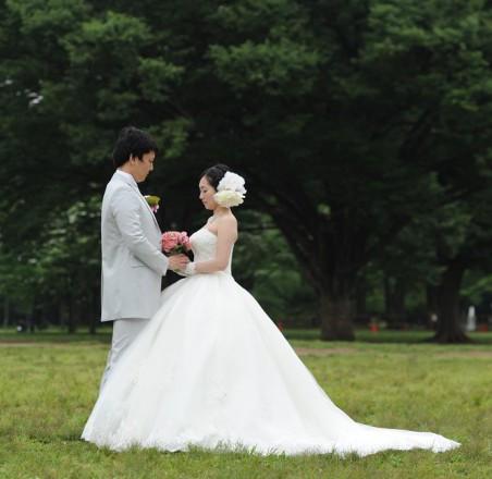 ウエディングドレス結婚式写真