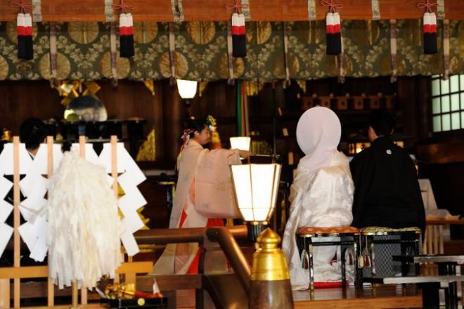 富岡八幡宮結婚式披露宴準備