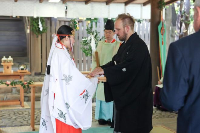 国際結婚神前式