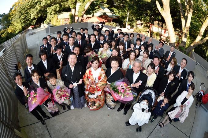 結婚式集合写真