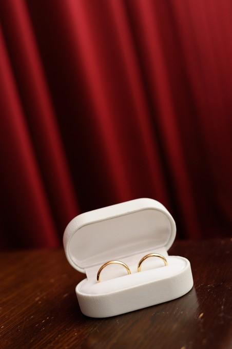 神社指輪交換