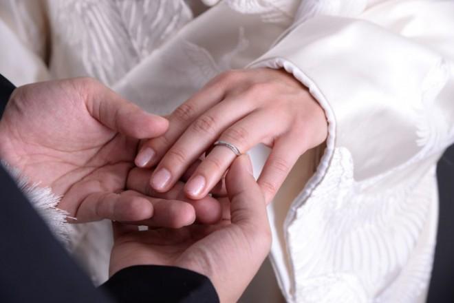 神社結婚式 指輪時交換